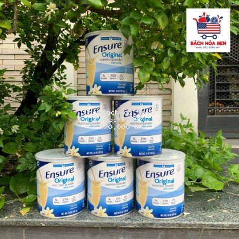 Sữa ENSURE MỸ original 397g mẫu mới Date 2022