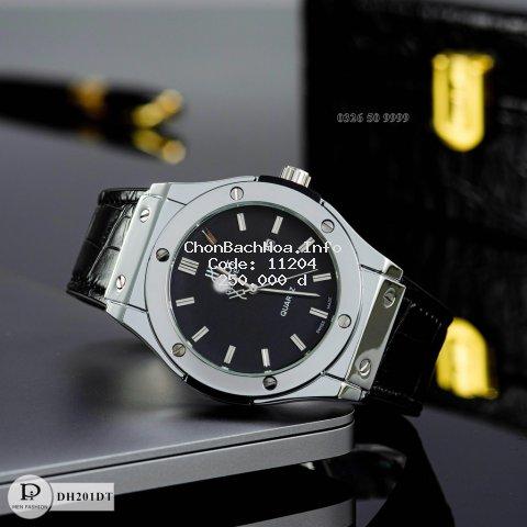 [Tặng box + bảo hành 12th] Đồng hồ nam HBL-42 mặt trơn dây da thơm cao cấp fullboxx bảo hành 12 tháng donghovip