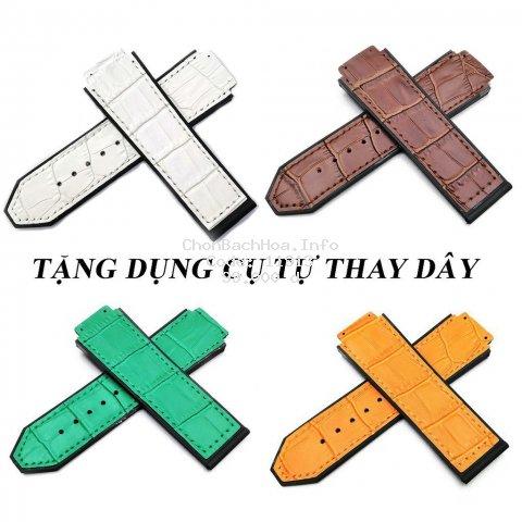 [TẶNG DỤNG CỤ THAY DÂY] Dây đồng hồ cao cấp Hulot 42mm - dây da - dây cao su - dây da lộn