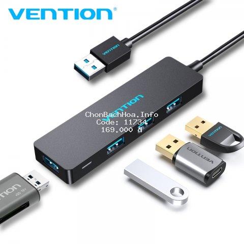 Thiết bị kết nối đa cổng cắm VENTION chia 4 cổng USB 3.0 nhỏ gọn cho Mac Pro Surface Pro PC