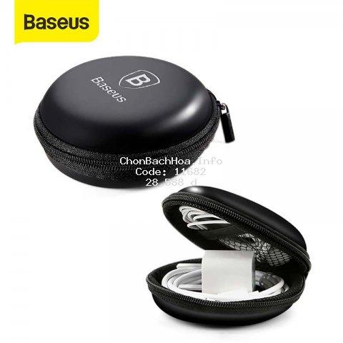 Túi Baseus thân cứng mini đựng tai nghe/cáp sạc USB/thẻ nhớ SD TF