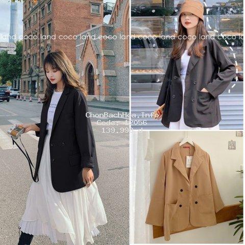 Áo Blazer tay dài màu trơn cho nữ- Áo Blazer Vest Nữ 1 Lớp Khoác Ngoài Dài Tay Nhiều Màu Kiểu Dáng Trẻ Trung