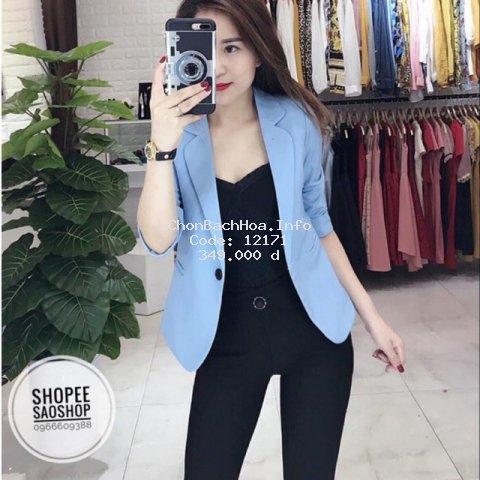 Áo vest nữ- áo blazer nữ 1 cúc kiểu dáng trẻ trung áo vest công sở cao cấp