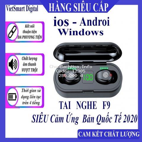 [BẢN QUỐC TẾ] Tai Nghe Bluetooth, Tai Nghe Không Dây AMOI F9 TWS 5.0 9D, Cảm Ứng Chạm, Chống Nước, Chống Ồn