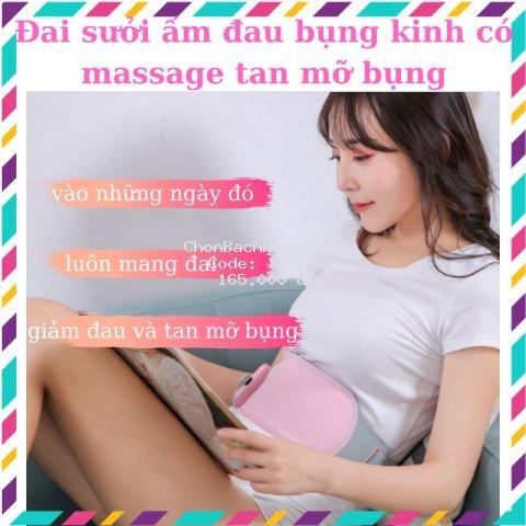 [Bảo hành 6 tháng ] Đai sưởi ấm giảm đau kinh nguyệt và massage tan mỡ bụng - ĐỒ DÙNG tiện ích
