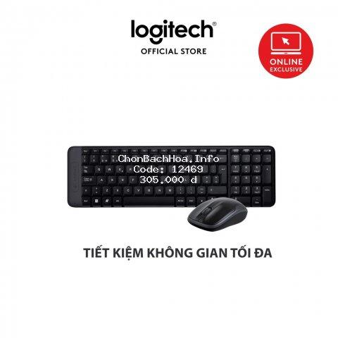 Bộ bàn phím và chuột không dây Logitech MK215