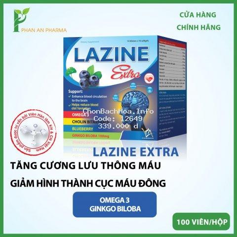 [CHÍNH HÃNG] Hoạt Huyết Dưỡng Não Lazine Extra, Tăng Cường Lưu Thông Máu Não