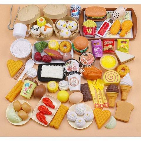 Có hộp nhựa đẹp - Bộ đồ chơi các món ăn năm châu 84 chi tiết đáng yêu bé chơi hoài không chán