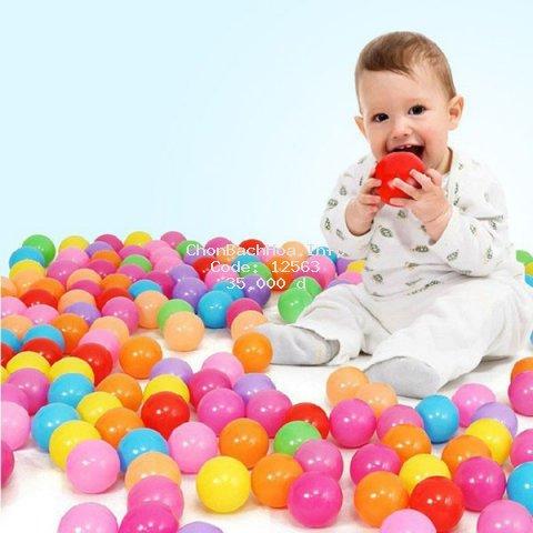COMBO 10 quả bóng nhựa nhiều màu cho bé, chất liệu an toàn, an toàn cho bé khi vui chơi - Giao màu ngẫu nhiên