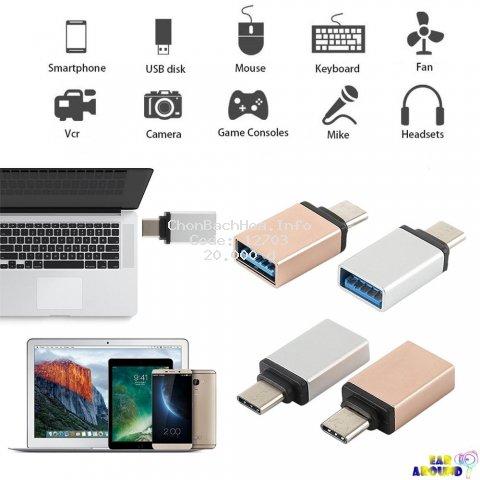 Đầu chuyển đổi đồng bộ hóa dữ liệu USB Type C sang USB 3.0 4.7g tiện lợi