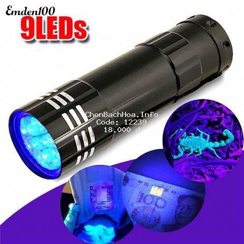 Đèn LED UV tia cực tím 9 bóng 4.5V đa năng tiện dụng