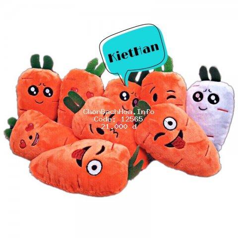 Gối bông hình cà rốt nhí