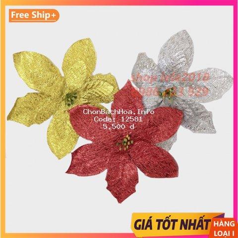 Hoa kim tuyến 15cm trang trí cây thông Noel