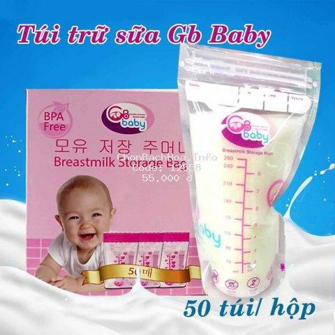 Hộp 50 chiếc túi trữ sữa GB Hàn Quốc, Sunny, Sami 250ml