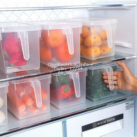 Hộp bảo quản thực phẩm trong tủ lạnh có tay cầm tiện lợi (dung tích 4700ml)