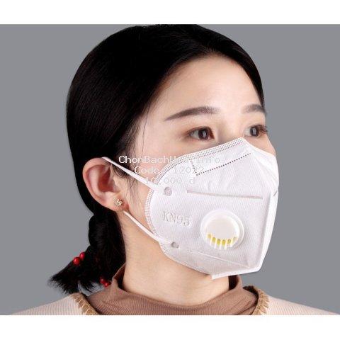 Khẩu trang N95-KN95 có van hở kháng khuẩn, chống bụi mịn và tránh lây bệnh hô hấp