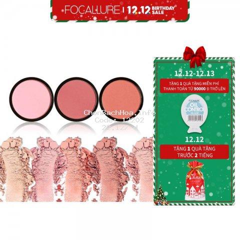 Khay phấn má hồng FOCALLURE gồm 6 màu tùy chọn 4g
