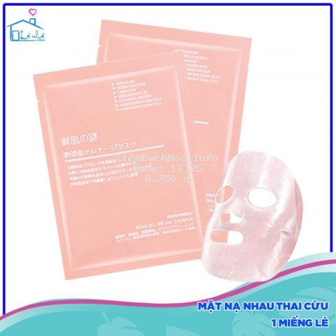 Mặt nạ nhau thai tế bào gốc Nhật Bản cấp ẩm tức thì mịn màng cho da ( hàng chuẩn)