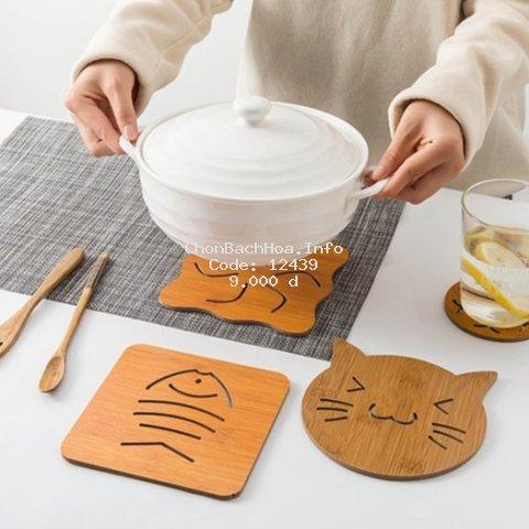 Miếng lót gỗ cách nhiệt bàn ăn, phòng bếp