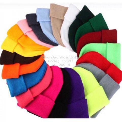 Mũ Len Màu Trơn Bianie Hàn Quốc Nhiều Màu Cho Nam/Nữ Dài 30cm