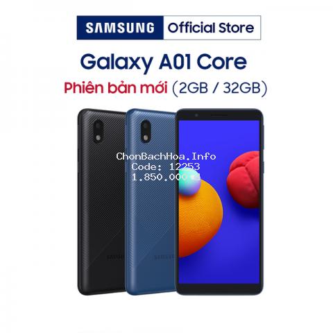 [Nhập ELSSMT100 giảm 100K] Điện Thoại Samsung Galaxy A01 Core (2GB/32GB) - Hàng Chính Hãng