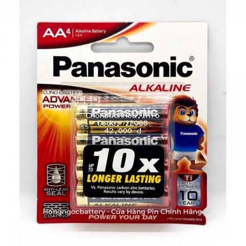 Pin AA Panasonic vỉ 4 Viên dung lượng cao LR6T