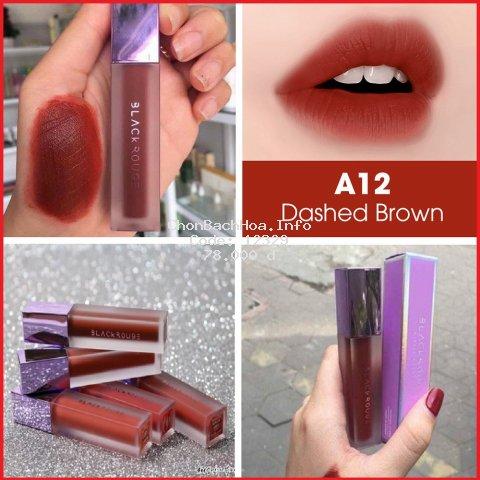 Son Black Rouge A12 ⚡️???̂̃? ???́ ????⚡️ Màu Đỏ Nâu Gạch ⚡️ Hàng Handmade