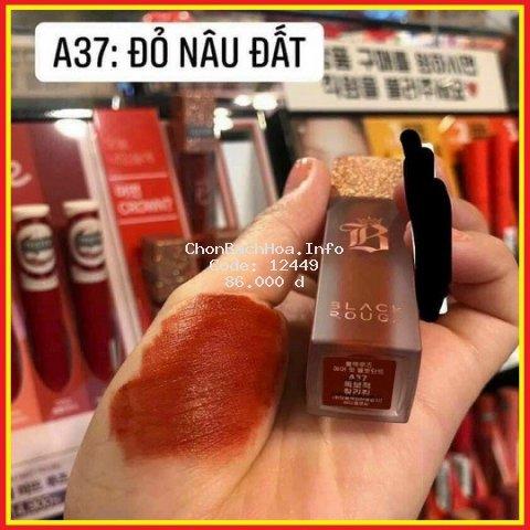 Son Black Rouge Ver 7 A37 Màu Đỏ Nâu Đất ⚡️???̂̃? ???́ ????⚡️ Hàng Handmade Không Chì