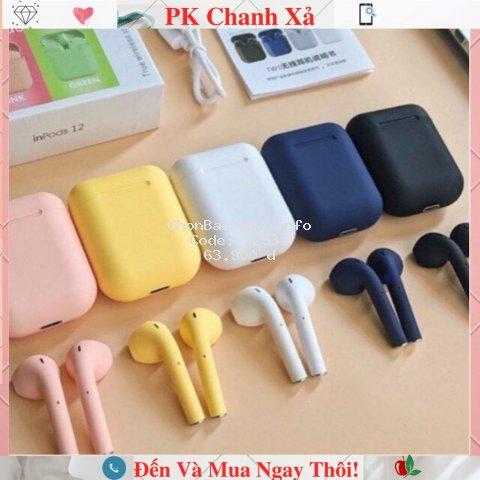 Tai Nghe Bluetooth INPODS i12 TWS Cảm Biến Vân Tay (có Ảnh + Video)