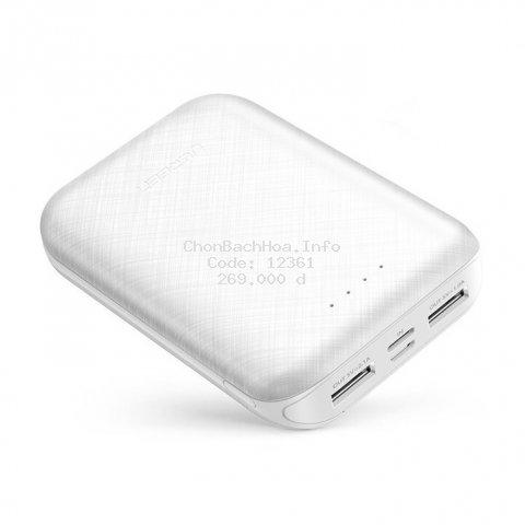 [UGREEN70 -70K] Sạc dự phòng 10000mAh UGREEN PB133 - 2 cổng sạc USB sử dụng cùng lúc 2 điện thoại, input MicroUSB, USB-C