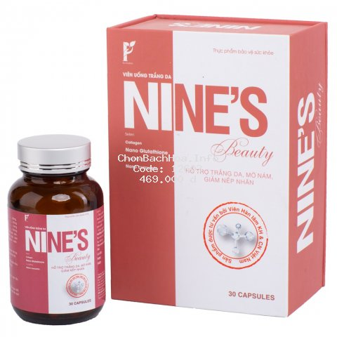 Viên Uống Trắng Da Toàn Thân Mờ Nám Giảm Nếp Nhăn Nine's Beauty