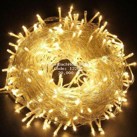 Xài điện- Dây đèn led 7.5m 50 bóng đèn đom đóm không chớp nháy trang trí tiệc lễ tết noel