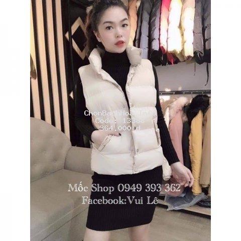 Áo khoác nữ, áo phao gile may 2 lớp, kiểu dáng trẻ trung, thời trang, hàng Quảng châu đẹp, phom dưới 56kg
