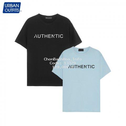 Áo Thun Tay Ngắn Nam Nữ Urban Outfits Kiểu  In Chữ AUTHENTIC Cổ Tròn Dáng Unisex Shopee Form Suông 100%Cotton ATR09 Free