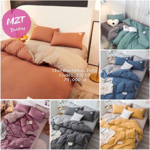 Bộ chăn ga cotton tici M2T Bedding chăn ga Hàn Quốc đủ màu đủ size miễn phí bo chun