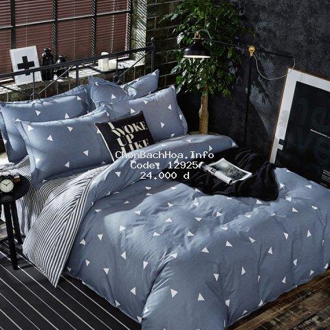 Bộ ga drap thun trải giường gồm 2 vỏ gối và 1 vỏ ga bao nệm đệm dày 10cm cotton poly 1m6, 1m8 được chọn mẫu mới về nhiều