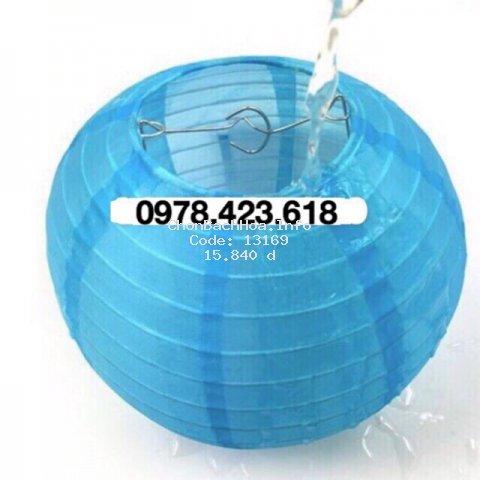 Đèn lồng VẢI LỤA Chống nước 30cm - 25cm - 20cm treo trang trí ngoài trời