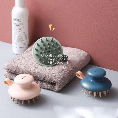 Dụng cụ gội đầu kiêm massage da dầu nhựa giúp da đầu dễ chịu thoải mái, nhựa cao cấp an toàn cho sức khỏe