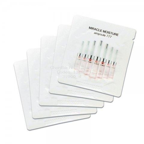 Gói tinh chất huyết thanh 777 Ohui siêu dưỡng ẩm dưỡng trắng và căng bóng da - Miracle Moisture Ampoule Ohui 777 1ml