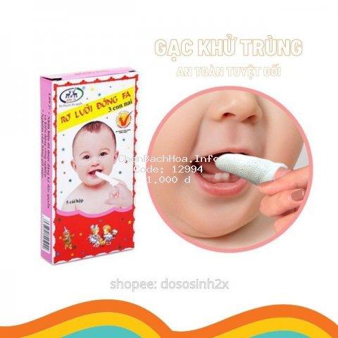[hộp 5 chiếc] Rơ lưỡi cho bé Đông Fa, tưa lưỡi vệ sinh trọn gói đồ sơ sinh - 2X MART