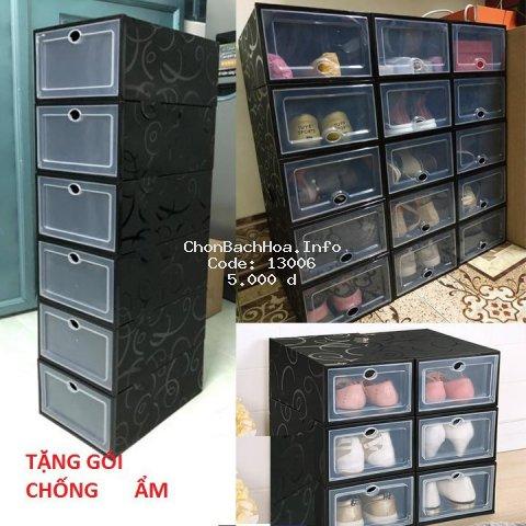 Hộp đựng giày size lớn làm bằng nhựa mica có nắp cứng chịu lực chống bụi bẩn(TẶNG GÓI HÚT ẨM)