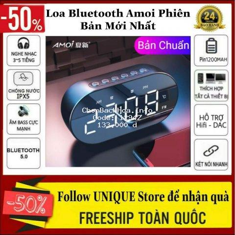 Loa Bluetooth Amoi Phiên Bản Mới Nhất Kiêm Đồng Hồ, Gương, Đo Nhiệt Độ - Loa Đồng Hồ