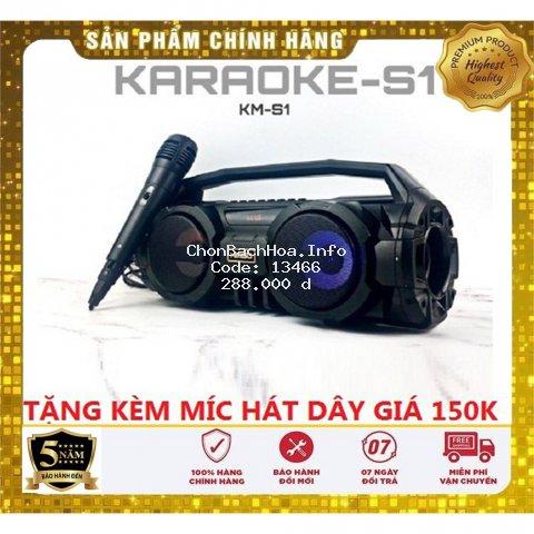 Loa Bluetooth KIMISO KM-S1 - Tặng kèm Mic hát Karaoke - Lỗi đổi mới