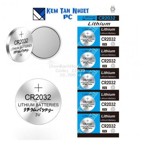 [Mã ELFLASH1 hoàn 10K xu đơn 20K] Vỉ 5 VIÊN PIN CMOS 3V Lithinum CR2032