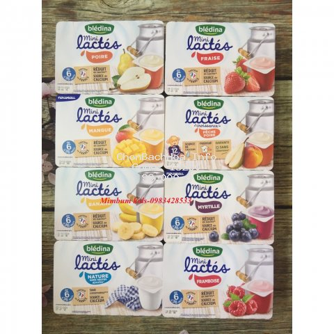 [Mã FMCGFSS giảm 8% đơn 250K] Sữa chua nguội Bledina của Pháp nhiều vị Date T5/2021