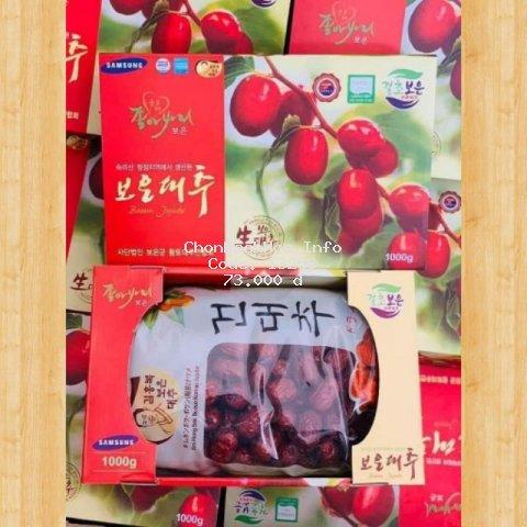 [Mã FMCGFSS giảm 8% đơn 250K] Táo đỏ Hàn Quốc sấy khô Loại 1 (Tặng kèm túi)