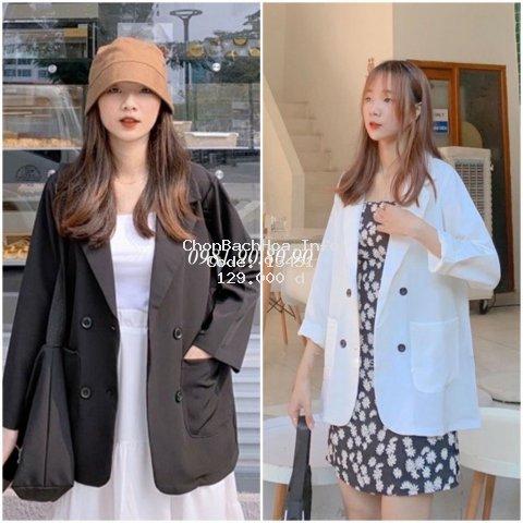 [Mã WARUN27 giảm 12k đơn 99k] Áo khoác vest blazer nữ phong cách hàn quốc 2 túi dán chất cao cấp