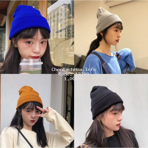 Mũ Len Giữ Ấm Thời Trang Hàn Quốc Cho Nữ