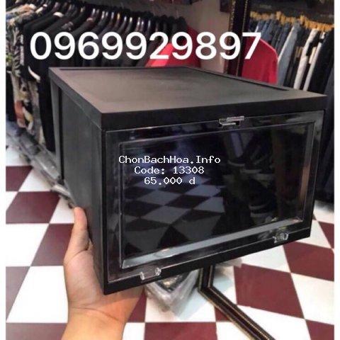 ( SHIP NOWSIP_GRAP_ 30P _1H _Hộp Size Lớn Hộp Đựng Giày Thông Minh Việt nhật nhựa cứng nguyên khối cao 18 cm