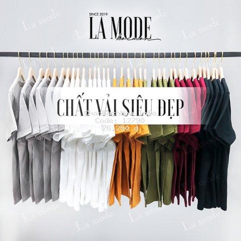 [ Siêu Rẻ ] Áo Thun Trơn Nam Nữ Nhiều Màu Vải Dày Không Xù Lông - La mode